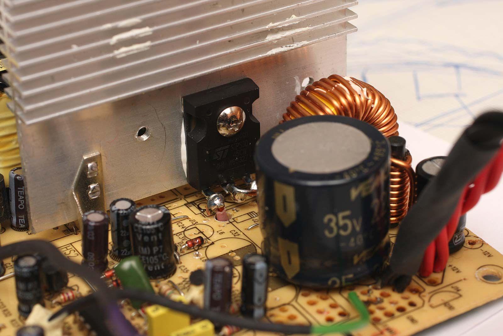 Atx Versione 20a Diodo Stps3045cw Da 30a 45v Usato Per Avere Oltre 125v To 25v 15a Lm317 Power Supply In Uscita