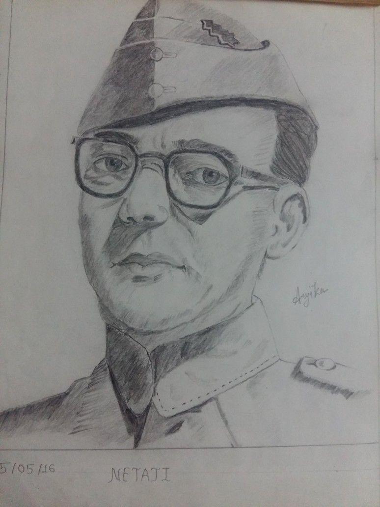 Netaji subhash chandra bose art gallery pencil shading art