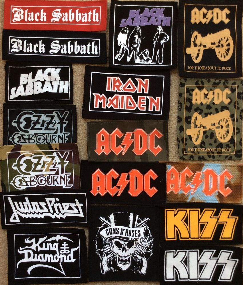 Ac Dc Iron Maiden Guns N Roses Kiss Judas Priest Patches Old