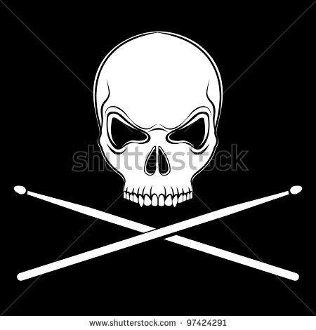 Skull And Cross Drumsticks Drummer Musician Hoodie Sweatshirt
