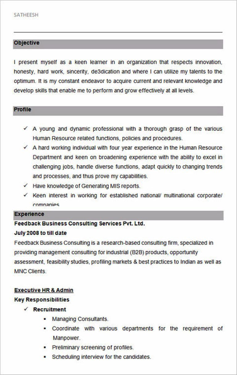 Ultimate Guide To Writing Your Human Resources Resume Hr Resume Sample Resume Templates Resume No Experience