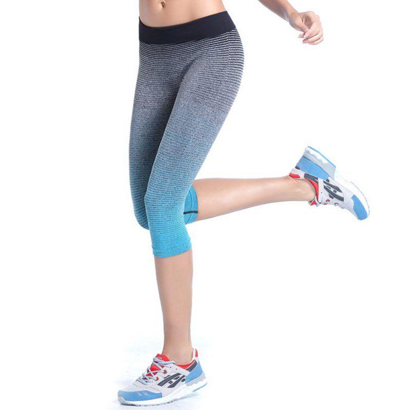 Frauen Sport Hosen Fitness Stretch Gym Leggings Freigestellte Athletisch Hosen