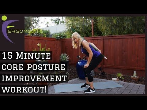 Video  -  Corepower Yoga 15 Minute Core Posture improvement workout for back issues!  #CorepowerYoga...