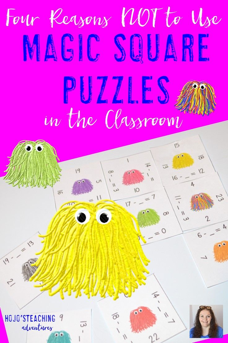 Four Reasons Not To Use Magic Square Puzzles Hojo S Teaching Teaching Preschool Fall Math Centers Halloween Math Centers [ 1104 x 736 Pixel ]
