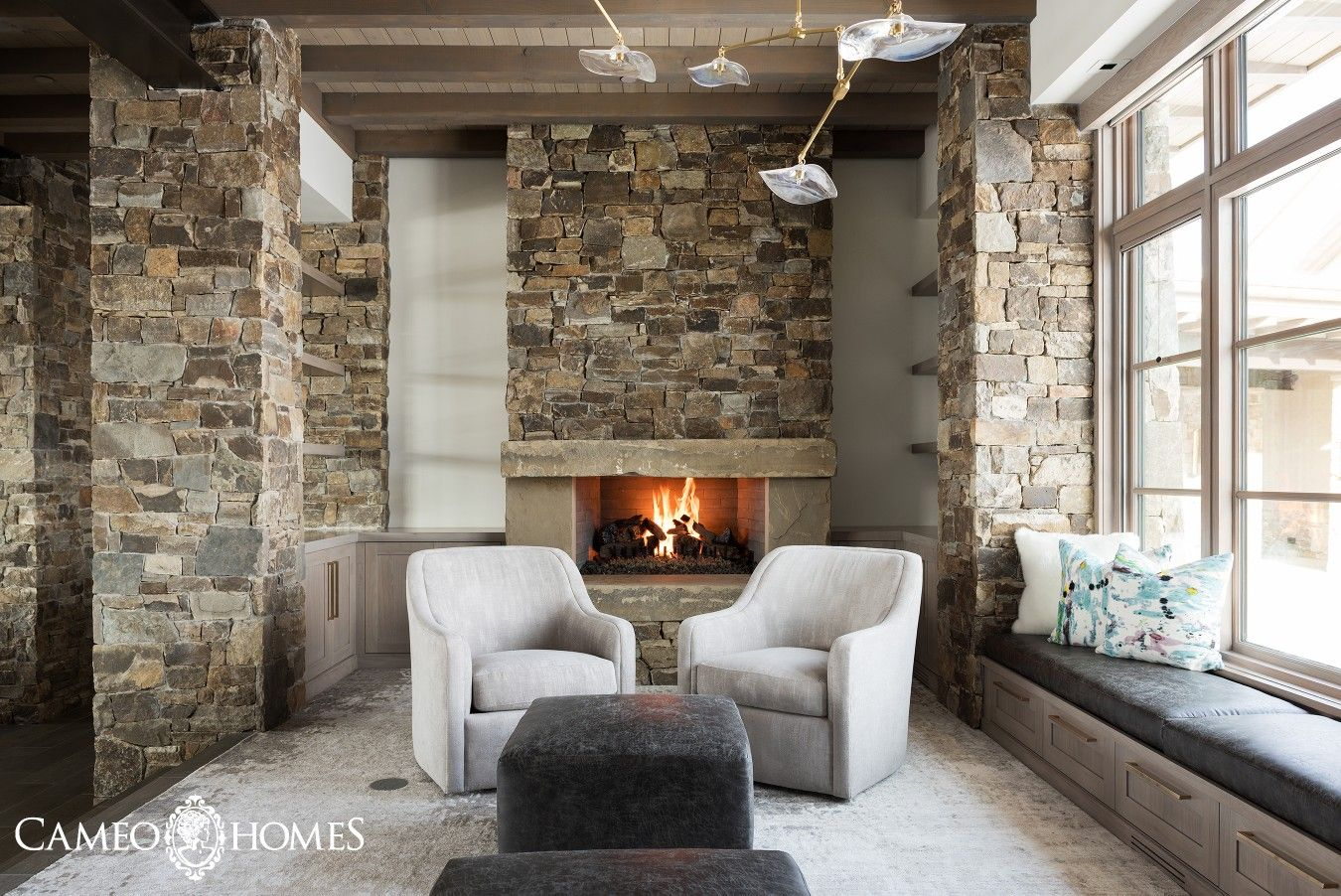 Exquisite Sitting Room Off Of The Kitchen In This Mountain Modern Home By  Cameo Homes Inc. In Utah.