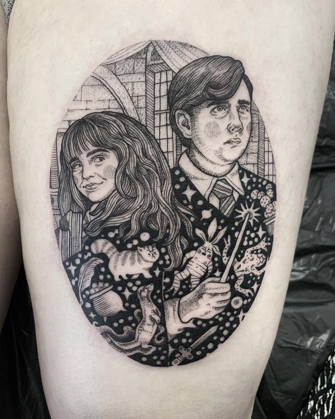 Harry Potter Tattoos Design Inspiration For Fans Hogwarts Tattoo Unique Tattoo Designs Fandom Tattoos