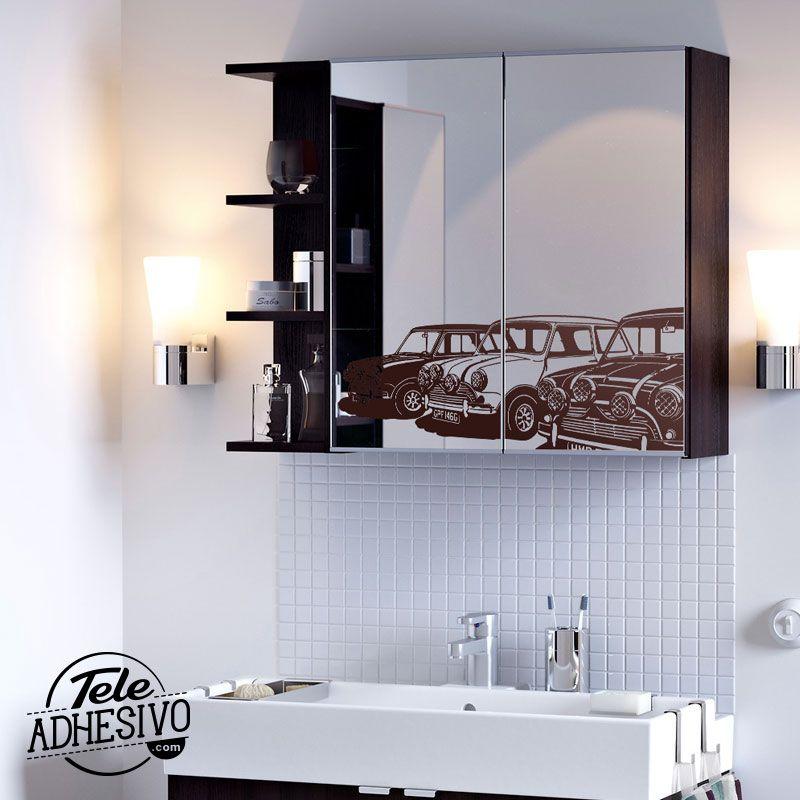 Decorar espejos con vinilo | Vinilo espejo, Baño ikea y Espejos baño