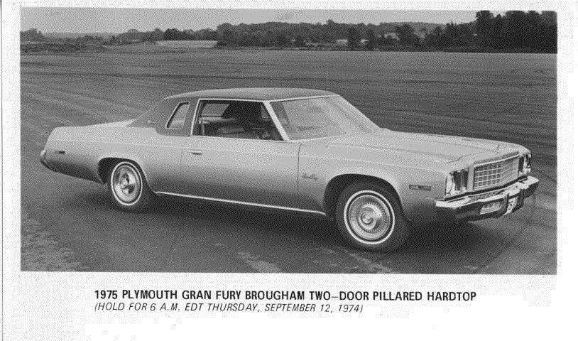 1975 Plymouth Canada Gran Fury Brougham Hardtop ORIGINAL