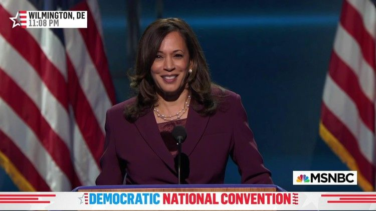 Harris shows warmth accepting nomination with personal touch