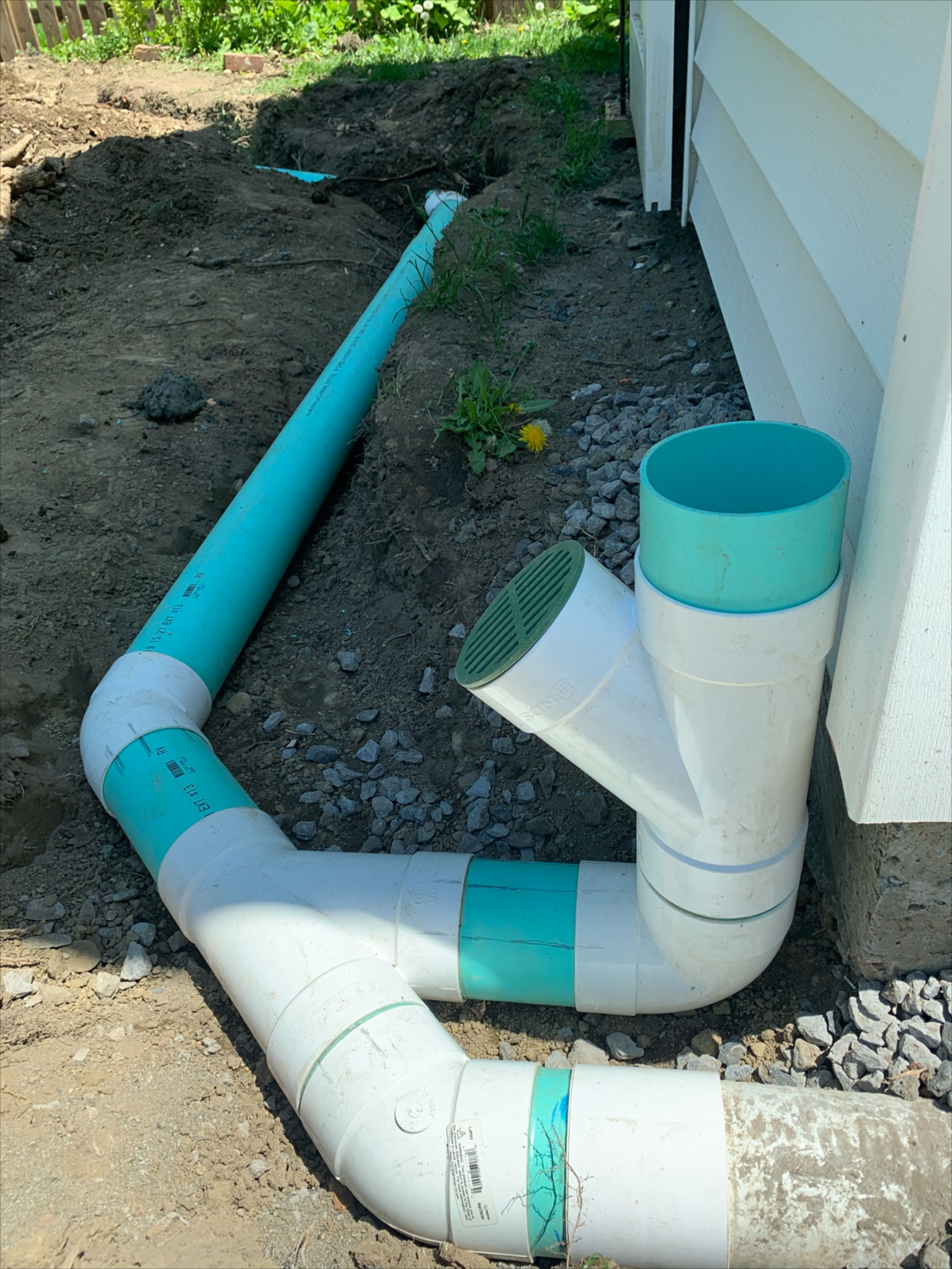 Underground Gutter Downspout Water Drainage Install Piping Rainwater Away From Foundation Walls In 2020 Drainage Downspout Drainage Underground Drainage