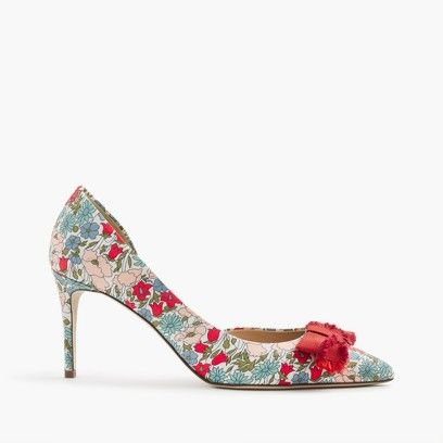 dcebbe73e0f Colette bow pumps in Liberty poppy   daisy floral