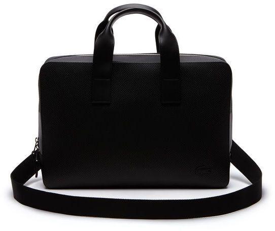f7225848a Lacoste Men s Chantaco Monochrome Coated Leather Computer Bag