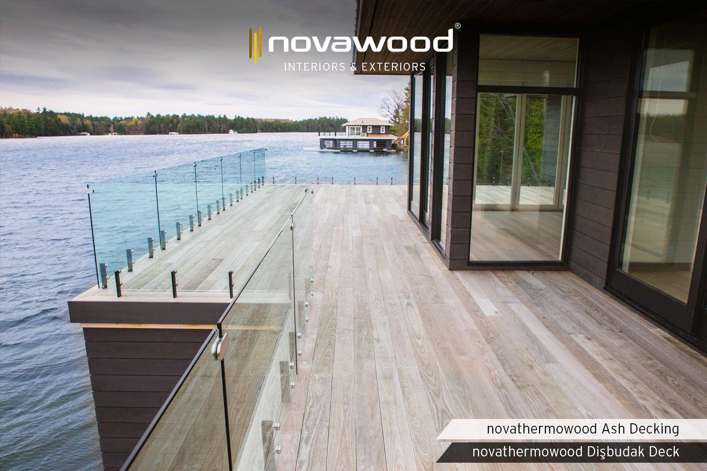 Material Used: Novathermowood Ash Decking #northamerica #novawood #