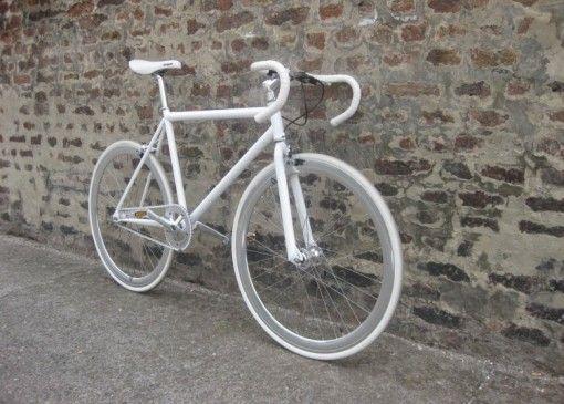 Fixie White On White Quoting Bicycle Bike Fixie