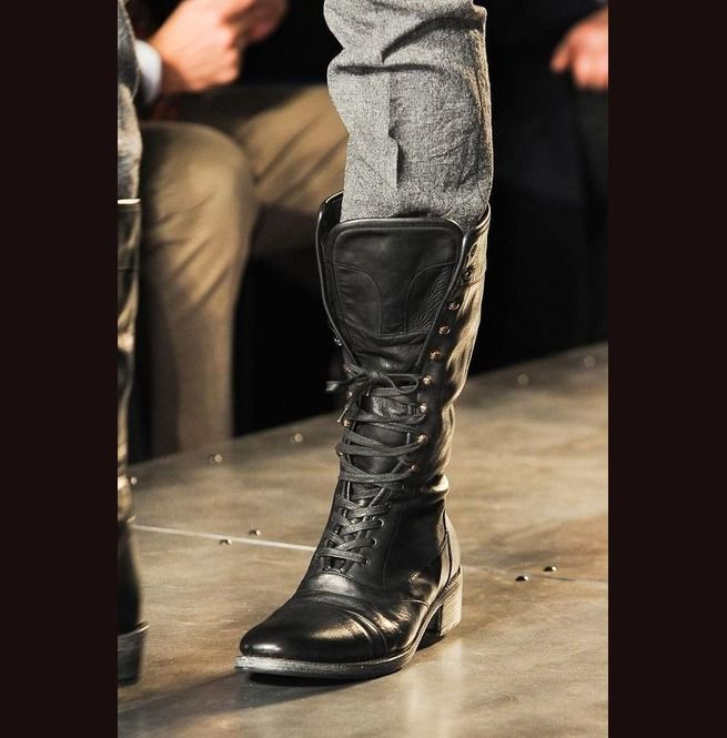 cd0ba7ea372 New Handmade Mens Military Style Superb Leather Boots Long Men Boot ...