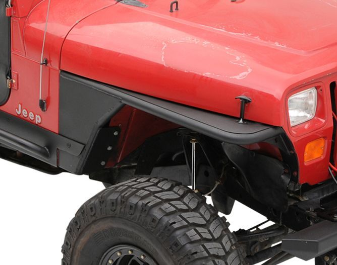Smittybilt Front Xrc Tube Fenders Without Flare In Textured Black For 76 06 Jeep Cj 7 Wrangler Yj Tj Unlimited Jeep Jeep Cj Jeep Wrangler Yj