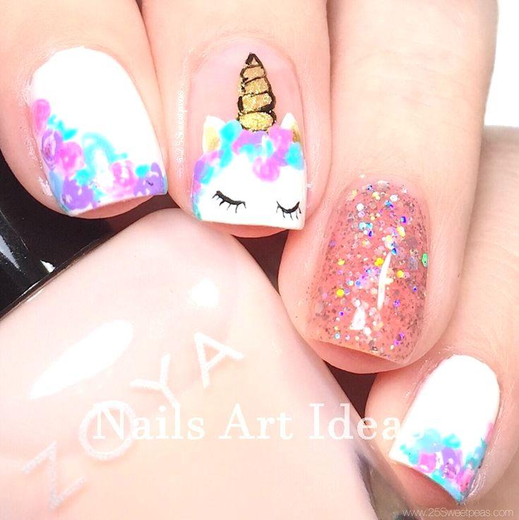 Great Classy Short Nails Art Designs Nailideas Nailart Kids Nail Designs Unicorn Nails Designs Girls Nail Designs