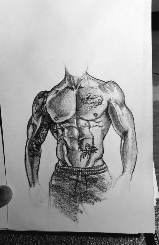 #39 by FitnessSketches #gym #art #bodybuilder #bodybuilding #fitness #musclegrowth #muscles #pencil...