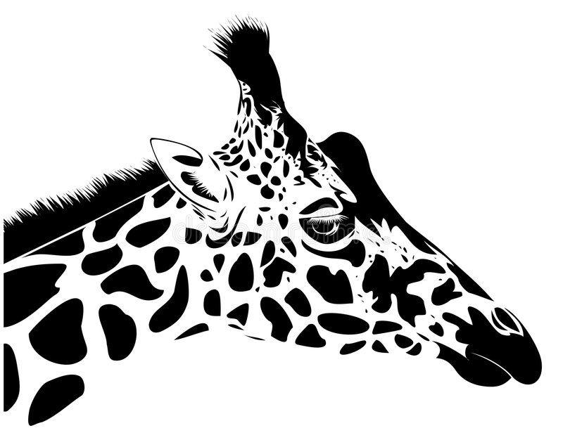 26++ Giraffe head clipart black and white ideas