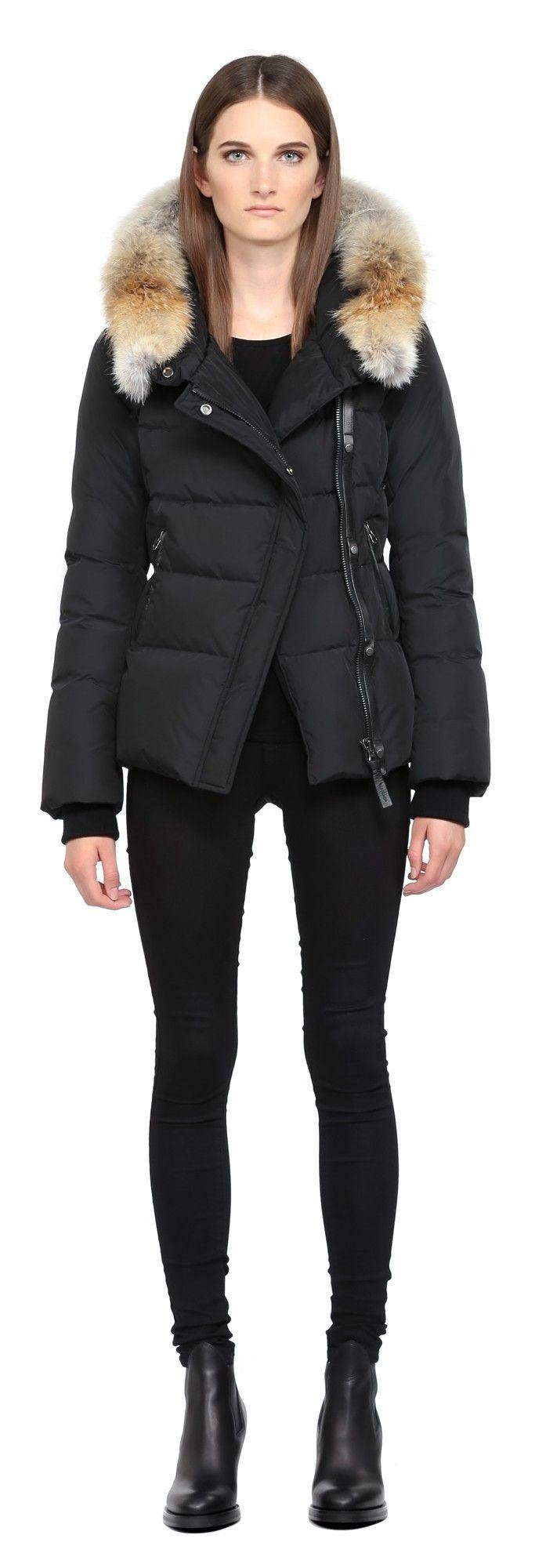 Adi Black Bomber Jacket With Fur Hood For Women Mackage Black Bomber Jacket Fur Hood Jacket Jackets [ 2000 x 683 Pixel ]