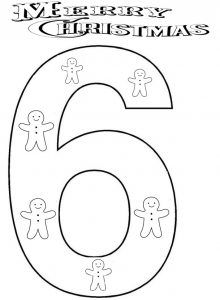 Christmas Number Coloring Pages For Kids Coloring Pages For Kids