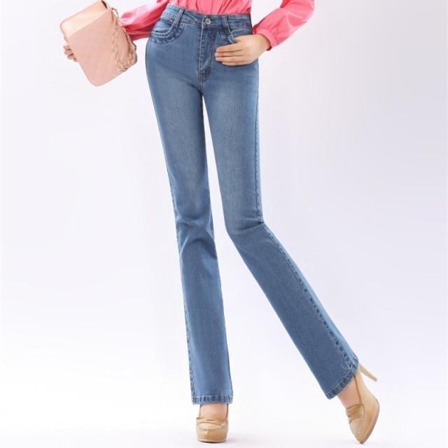 b15b8763ee7 Autumn High Waist Flare Jeans Pants Plus Size Stretch Skinny Jeans Women  Wide Leg Slim Hip Denim Boot Cuts Xxxl Xxs 4Xl 5Xl 6Xl