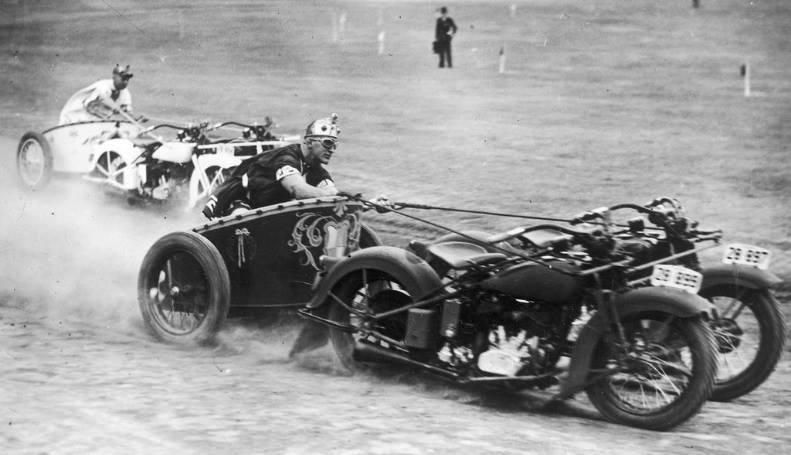 Motorcycle Chariot New South Wales Australia Ca 1936 Chariot Racing Motorcycle Racing