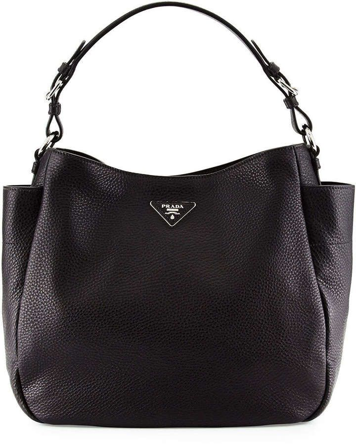 c99ecf57e1bd Prada Vitello Daino Single Strap Tote Bag, Black (Nero) | Hobos bags ...