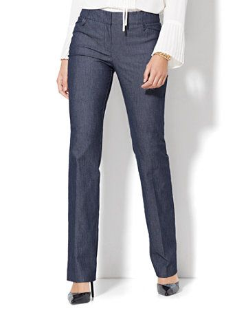 962654a02 Shop 7th Avenue Design Studio - Modern - Leaner Fit - Straight-Leg Pant -  Grand Sapphire - Petite . Find your perfect size online at the best price  at New ...