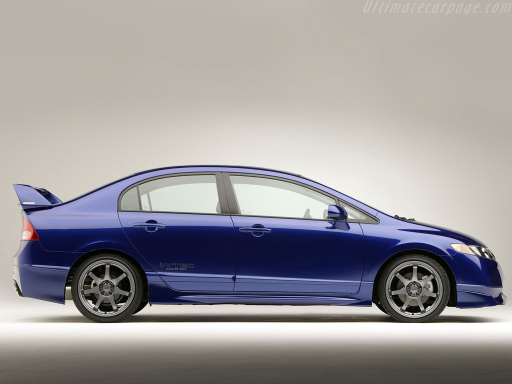 Honda civic mugen si sedan rear angle automotive pictures wallpapers