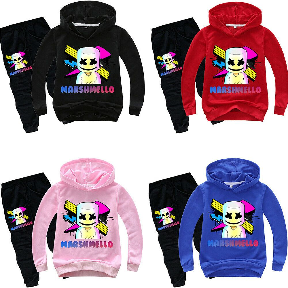 Marshmello Dj Boys Girls Kids Hoodies Sweatshirts Pullover Pants