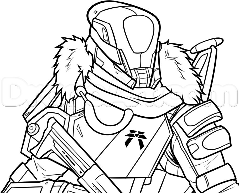 Destiny Titan Drawing Body | Coloring sheets, Book drawing ...