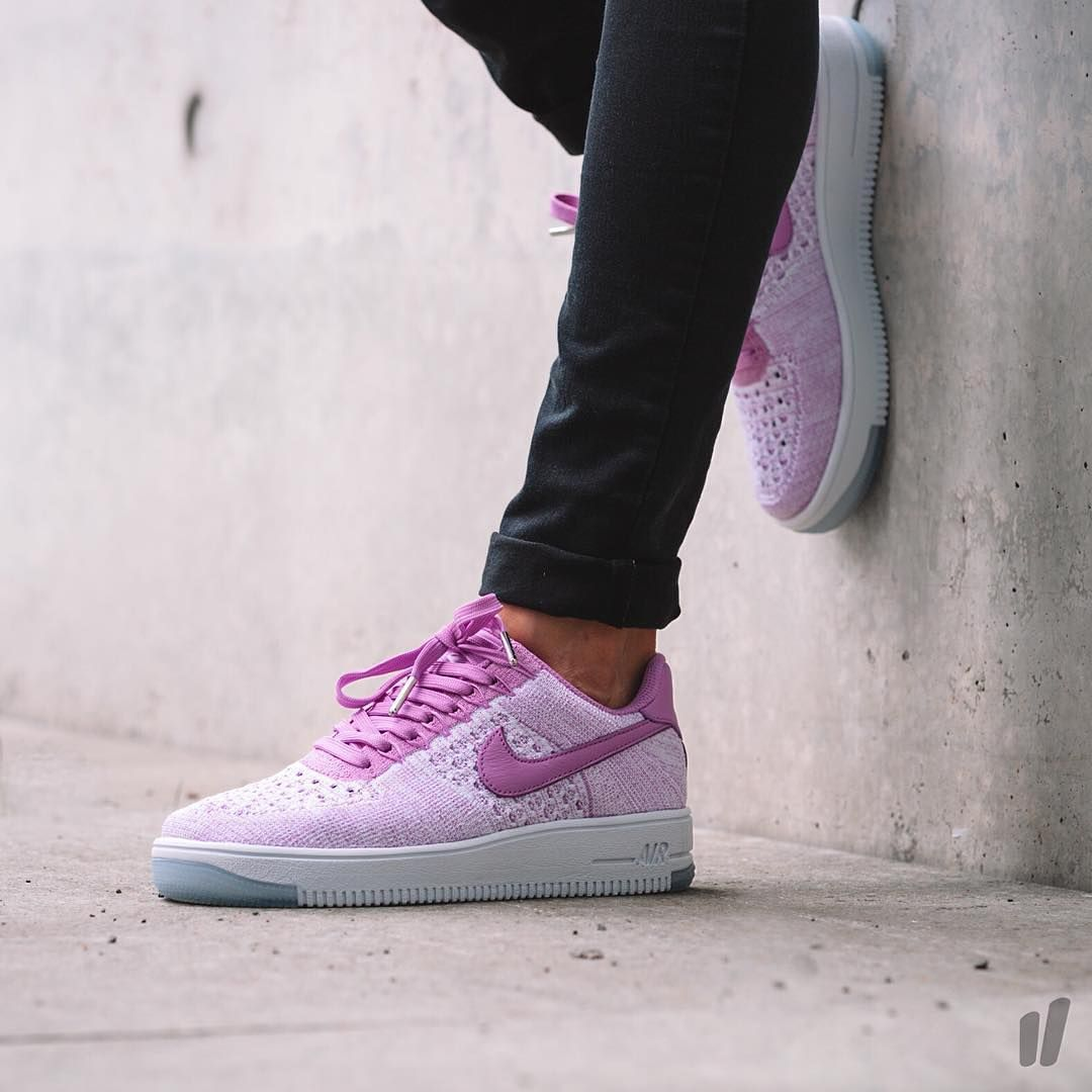 Nike Shoes | Air Force 1 Fly Knit Low Purple | Poshmark
