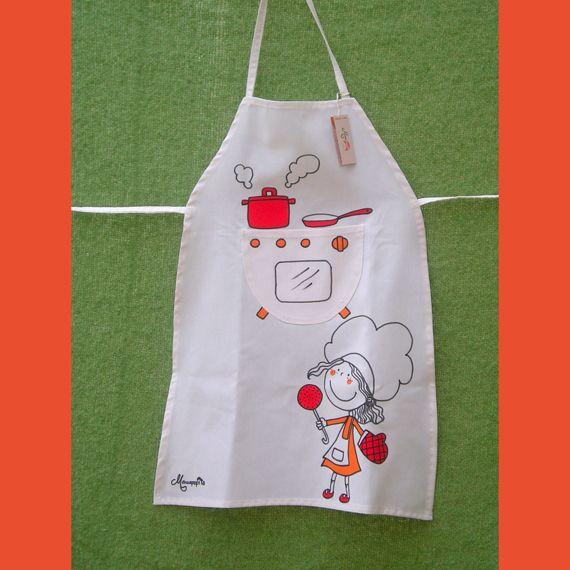 ac69f20ae49 Mandil de chef para niños - Imagui … Como Hacer Mandiles, Hacer Delantales,  Como
