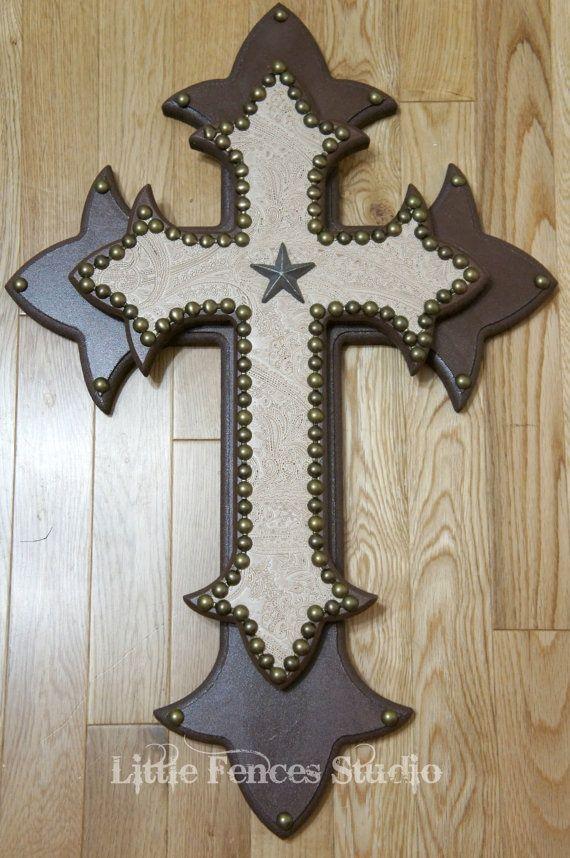 Pin By Tara Stevens On Craft Ideas Pinterest Western Crafts Wooden Crosses Wood Wall Cross