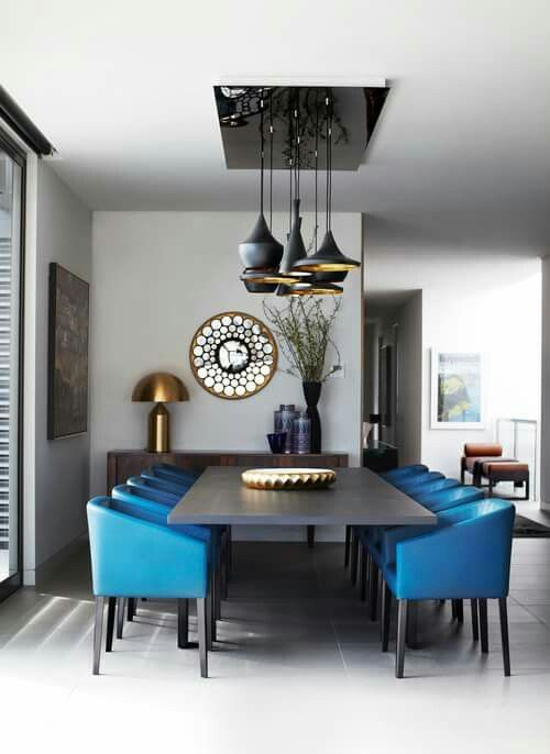 Best Cobalt Blue On All Black Dining Room Love It Dining 400 x 300