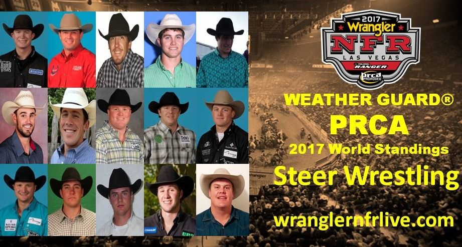 National Finals Rodeo Qualifiers 2017 Steer Wrestling