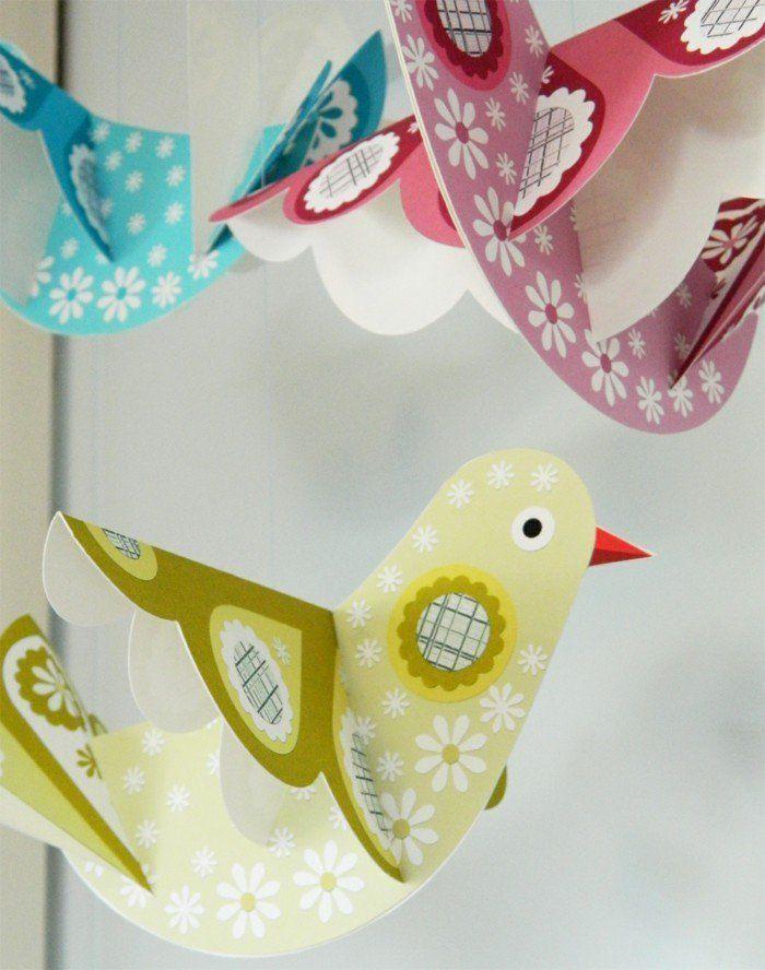 Zimmer Deko Diy zimmer deko diy vogel saus papier selber basteln diy do it