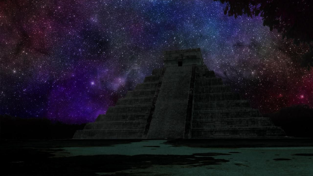 Night Over a Mayan Temple Places to see, Wallpaper, Image