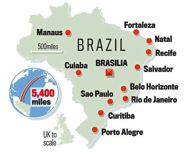 World cup 2014 brazil stadium guide cups fifa and soccer fifa mapped out the 12 venues for the 2014 world cup gumiabroncs Images