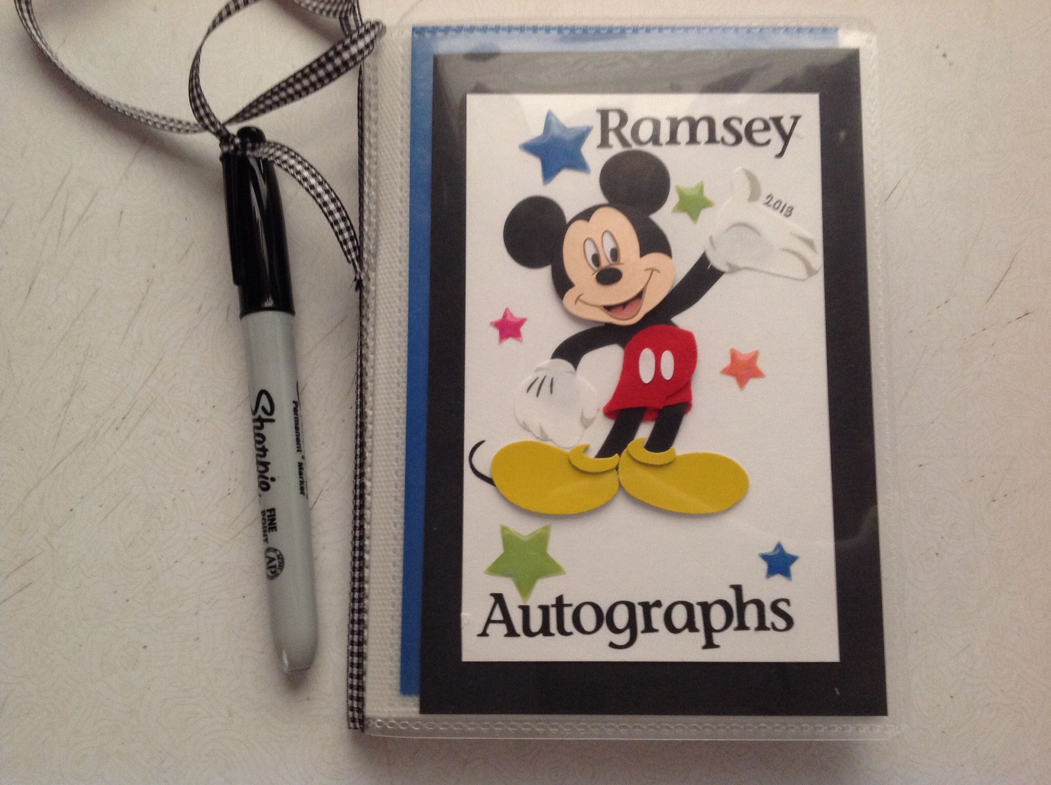 how to make your own autograph book