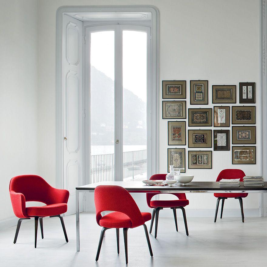 Saarinen Executive Arm Chair Knoll Knoll Dining Tables Modern Dining Chairs Saarinen Executive Chair