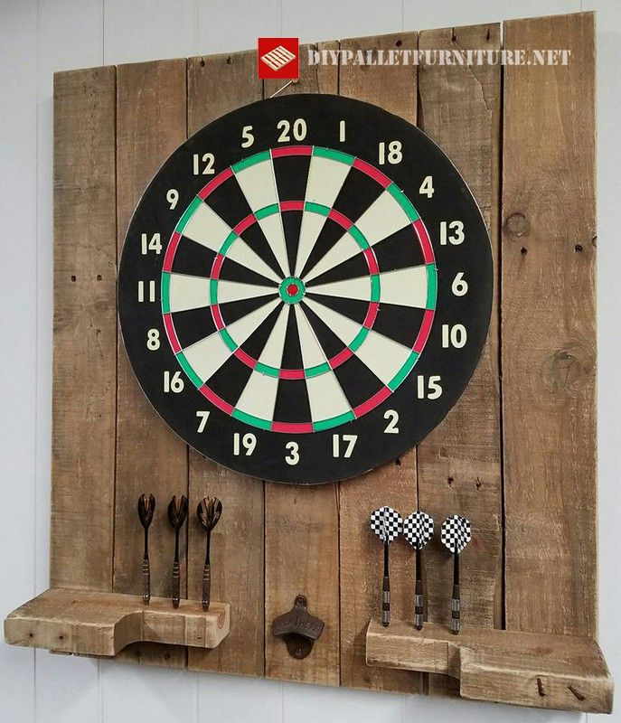 dartboard fait avec des palettes meubles d co r cup 39 pinterest meuble palette palette et. Black Bedroom Furniture Sets. Home Design Ideas