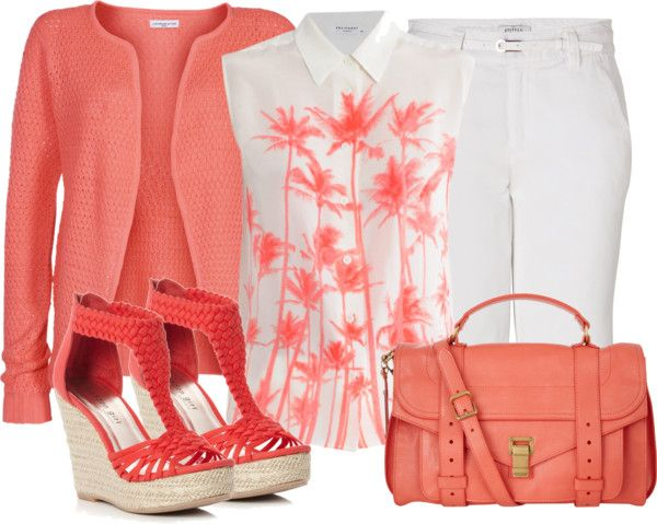 """Corals"" by oxigenio ❤ liked on Polyvore"