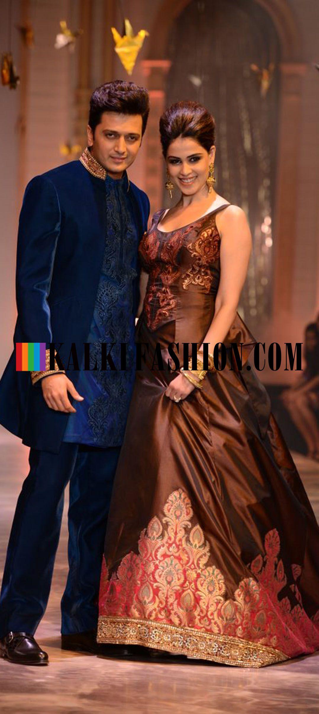 http://www.kalkifashion.com/ Celebrity couple Ritesh Deshmukh and ...