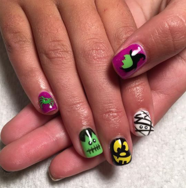 Halloween Nails | Halloween Nail Art | Witch Nail Art ...