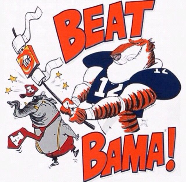 Beat alabama, Eagle! War Auburn  beats | 👍🏈🐯 Clemson bama!