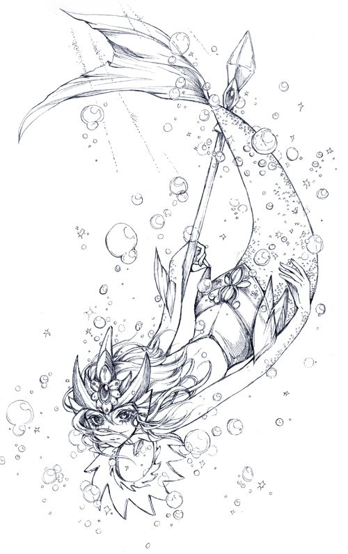 Gaming Frenzy Photo Lineart League Of Legends Sirenas