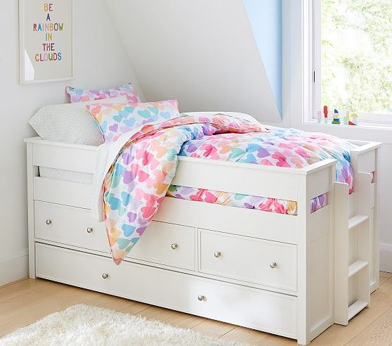 Elliott Captain S Bed Trundle In 2020 Captains Bed Kid Beds Kids Beds With Storage