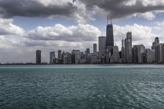 Chicago Skyline Photography- Hancock Tower Photo Print, Gift Ideas